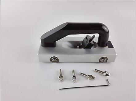 (4pcs V-Type Blades) Wheeled Groover For Vinyl Floor Welding Grooving Slotting Pull Hand Tool Slotter PVC Vinyl Floor Welding