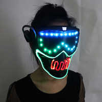 Full color smart pixel Led Mask Halloween Party Masque Masquerade Masks Cold Light Helmet Fire Festival Party Glowing Dance