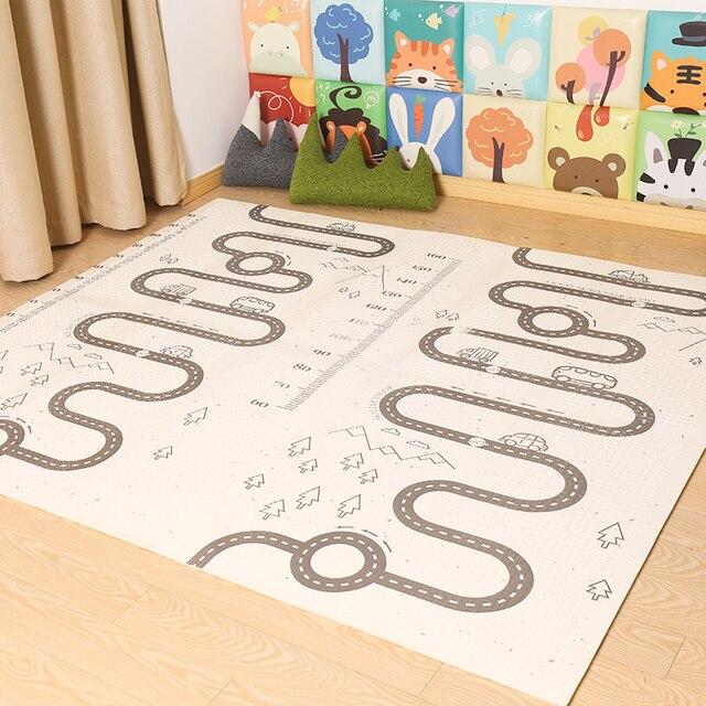 XPE детский игровой Мат Коврик для ползания с двойной поверхностью ковер для детей Коврик развивающий коврик для детей игровой коврик для детской комнаты декор