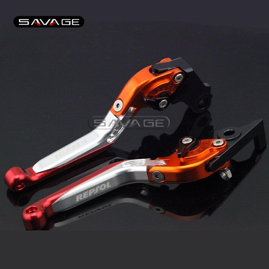 ホンダCBR250R CBR300R CB300F CBR500R CB500F CB500Xオートバイ調整可能な折りたたみ式拡張可能なブレーキクラッチレバーロゴREPSOL repsolブレーキレバー