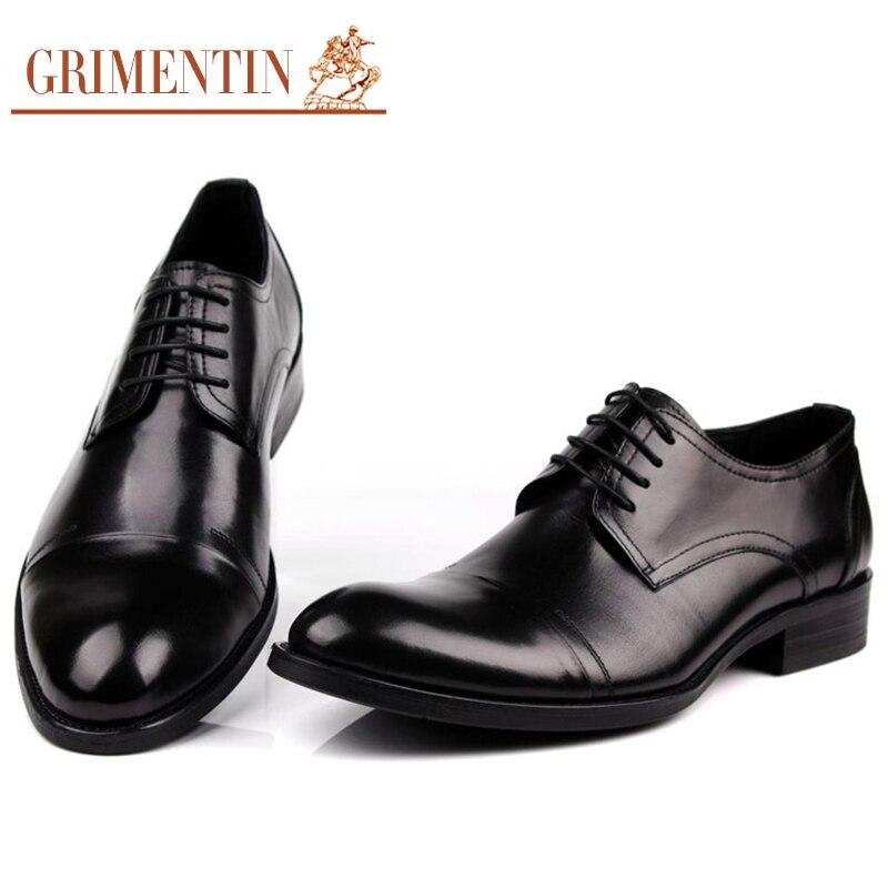 3e9574937ce Marca brown Grimentin De Para Genuino Black Redonda Hombres Cuero Vintage  Diseño Italia Clásica Punta Zapatos Hombre dpZpfxg