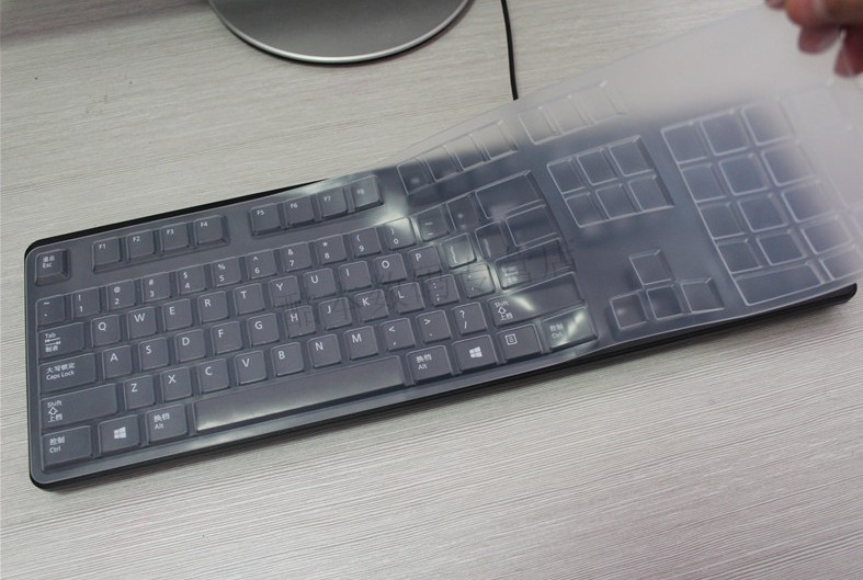 Waterproof dustproof Clear Transparent Silicone Keyboard skin Covers guard For DELL KB212-B KB4021 SK8120