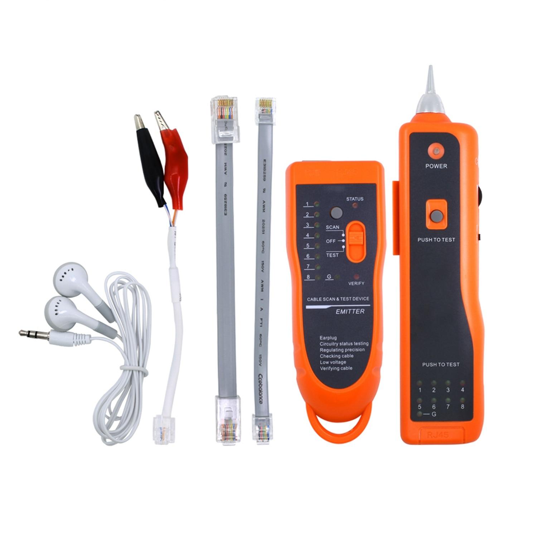Utp Stp Cat5 Cat6 Rj45 Lan testeur de câble réseau trouveur de ligne Rj11 traceur de suivi de fil téléphonique diagnostic Kit de tonalité Xq-350