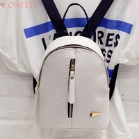 OCARDIAN Fashion Women Leather Backpacks Schoolbags Travel Shoulder Bag For Youth Juy13