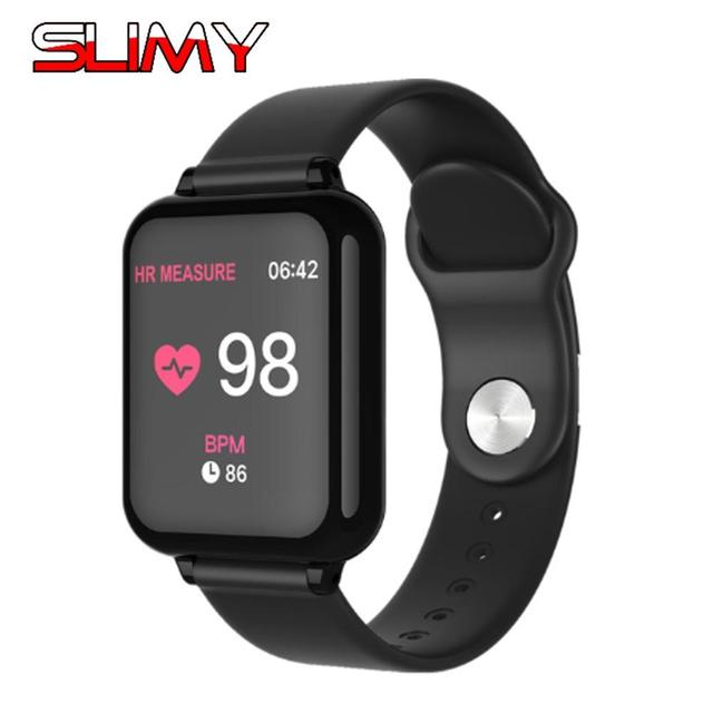 Slimy B57 Sport Smart Watch for Apple Watch Women Men Waterproof Smartwatch With Heart Rate Blood Pressure for IOS Android