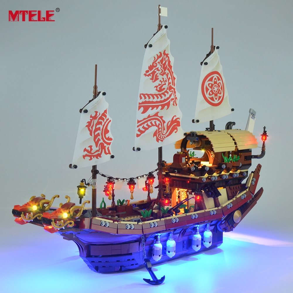 MTELE Led Light Kit For Ninja Temple Of Airjitzu Light Set Compatible With 70618 (NOT Include The Model) legos for boys ninjago