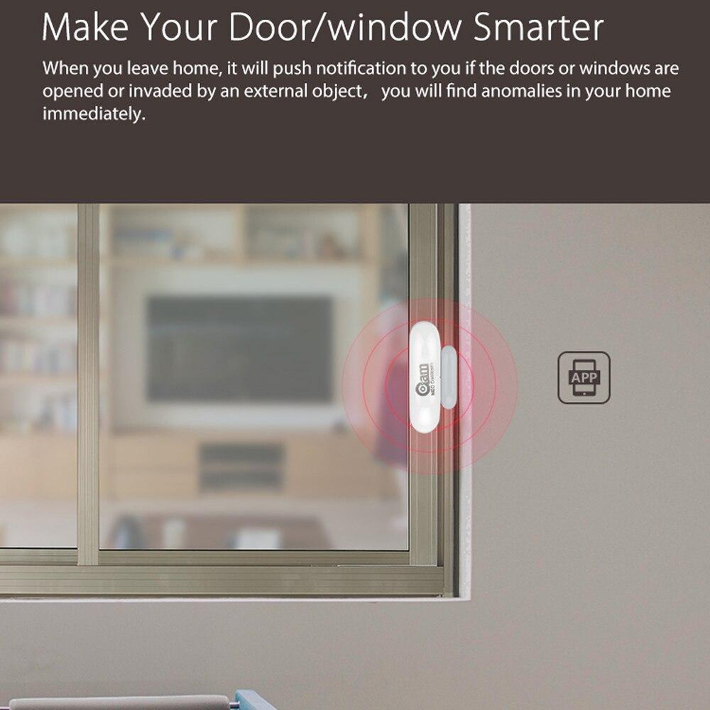 Image 4 - 1/2/3/4pcs/lots NEO COOLCAM WiFi Smart Door Sensor  Window Sensor App Notification Alerts Home Security Door/Window Detector-in Sensor & Detector from Security & Protection