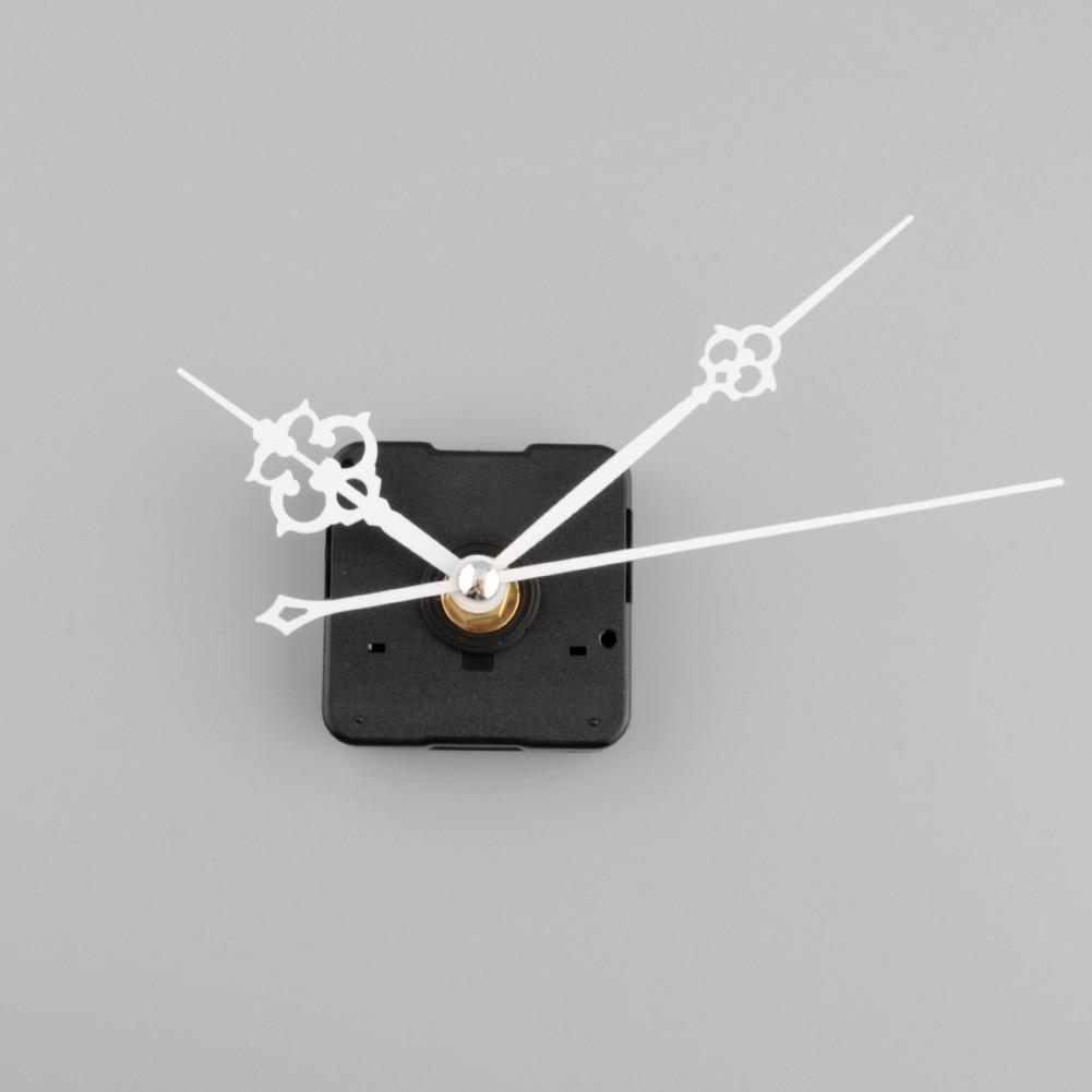 Clock Quartz Movement Mechanism White Hand Replacement Part Repair Kit Clock Movement Parts Accessories Home Deco Tools