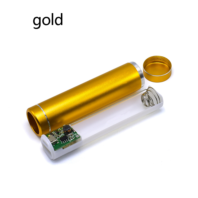 18650 Battery box Portable DIY USB Mobile Power Bank Charger Pack Box Battery Case Multicolor Metal Power Bank Kit Storage Case 4