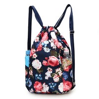 Fashion Women Backpack Flower Printing Travel Softback Women Drawstring Bag Backpacks Girls Beach Bag Shopping Sack Bag Mochilas