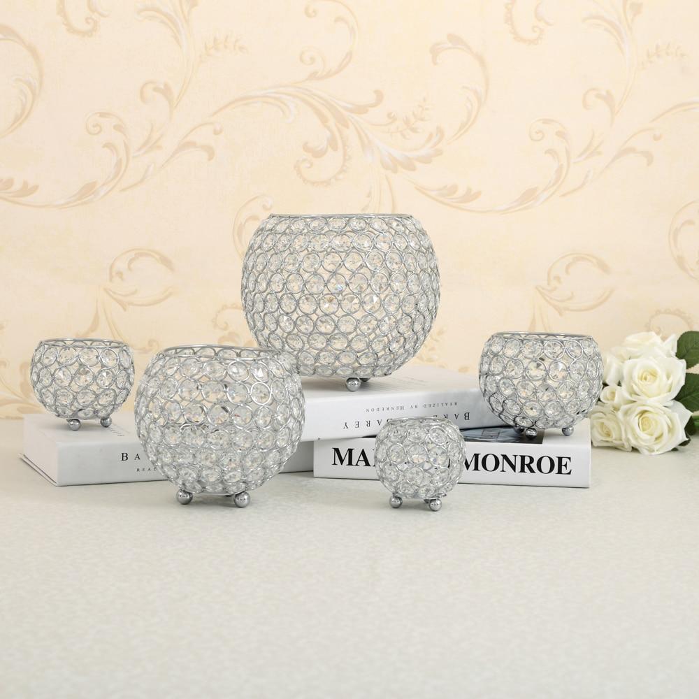 Crystal Tealight Candle Lantern Holders Candlesticks Wedding Coffee ...