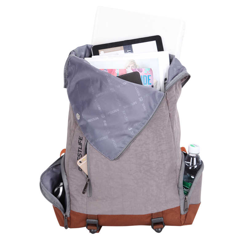 BESTLIFE מחשב נייד תרמיל גבוהה-קיבולת נסיעות דובון צבאי חבילה עם Flip כיסוי מאובטח שקיות נוח בד תרמילים