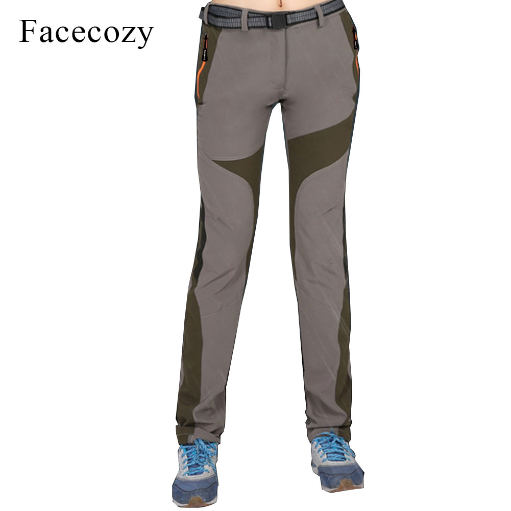 Facecozy Womens Summer Hiking Pants Waterproof Quick Dry Outdoor Trousers Elastic Trekking Camping Fishing Thin Pantalones ...