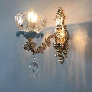 Image 2 - יוקרה קריסטל נברשת לסלון קלאסי קריסטל נברשת אור גופי שינה זהב מנורת LED קריסטל מנורת תקרה