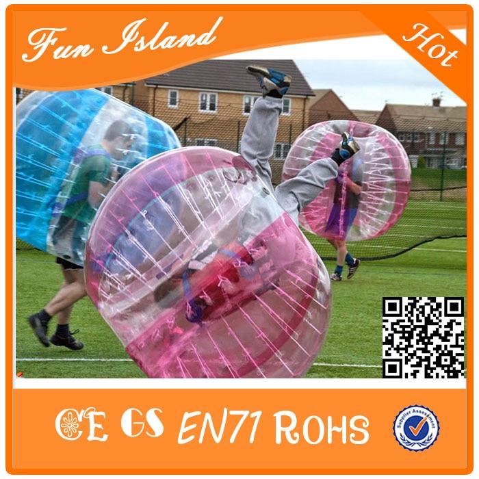 Jouets gonflables colorés de boule de Zorb de Football de bulle de 1.2 m TPU, Football gonflable de bulle de jeu de sport, boule bouclée folle - 2