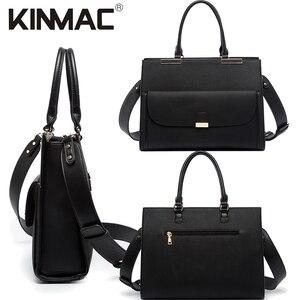 """Image 2 - 2020 موضة العلامة التجارية Kinmac سيدة بولي Leather حقيبة يد جلدية رسول حقيبة كمبيوتر محمول حقيبة 13 بوصة ، الحال بالنسبة لماك بوك اير برو 13.3 """"، دروبشيب 008"""