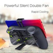 ゲームパッドゲームホルダースタンド冷却コントローラサポート充電と 2000 2600mah のポータブルラジエーターミュートファンヒートシンクの andriod ios