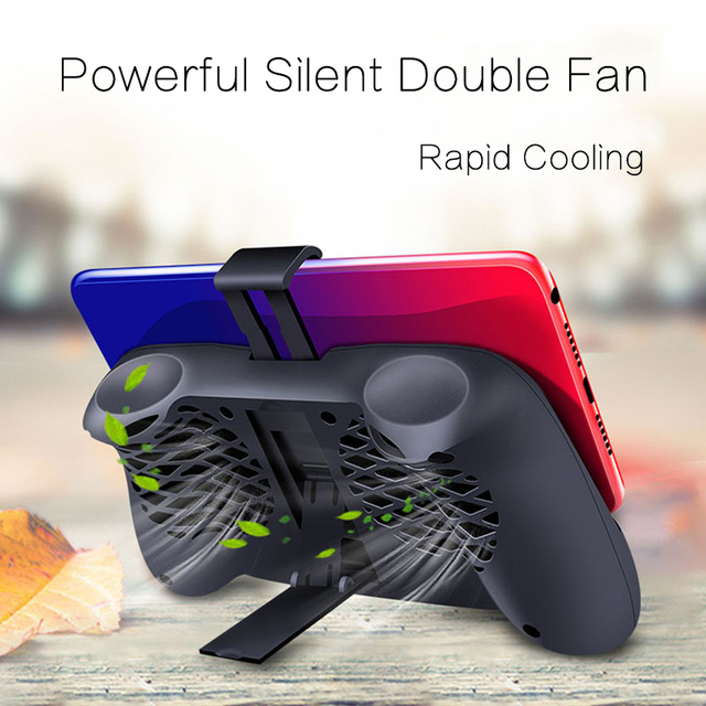 Gamepad Game Holder Stand Cooling Controller Support Charging with 2000mAh Portable Radiator Mute Fan Heatsink for andriod IOS