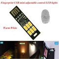 Mini USB LED Light Lamp Touch Dimmer Pocket Card 6 LED Bulb Keychain Night Warm Light 1W 5V For Later PC Computer Power Bank Hot
