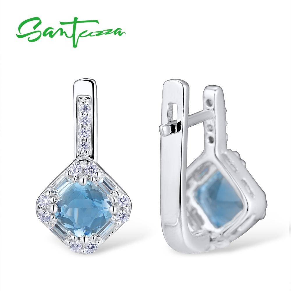 azul conjunto anel 925 prata esterlina moda conjunto de jóias