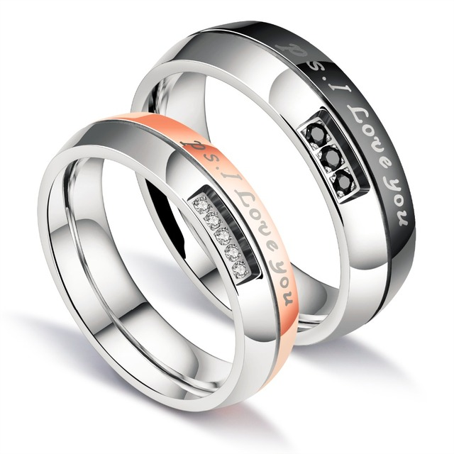 2 Pieces Gift For Husband Wife His And Her Anniversary Wedding Band Set Couple Rings Titanium