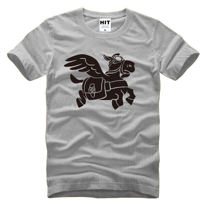 Game Dota Dota2 Flying donkey Printed Mens Men T Shirt Tshirt Fashion 2015 New Short Sleeve Cotton T-shirt Tee Camisetas Hombre