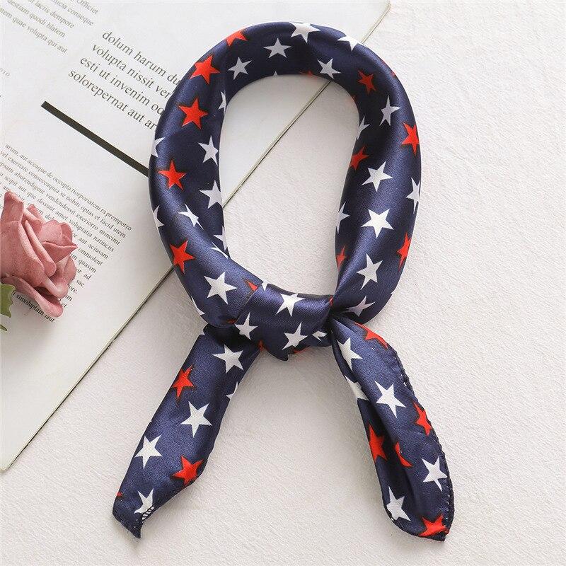 Designer Women Satin Small Neck Scarfs Hair Band Scarf Silk Feeling Handkerchief Wraps Lady Foulard Scarves