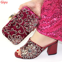 doershow Italian beautiful Shoes with Matching Bag Italian Design African Nigeria Shoes and Bag Set for Parties!HBC1 3
