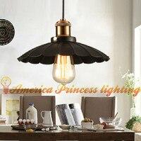 American Restaurant Cafe Retro small umbrella chandeliers  iron  E27  color: black / white  diameter: 25CM / 35CM  AC110-240V