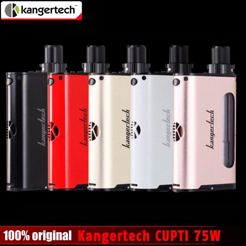 100% оригинал kangertech cupti 75 Вт TC AIO комплект с 5 мл распылитель SS316L 1.5ohm clocc core kanger cupti комплект