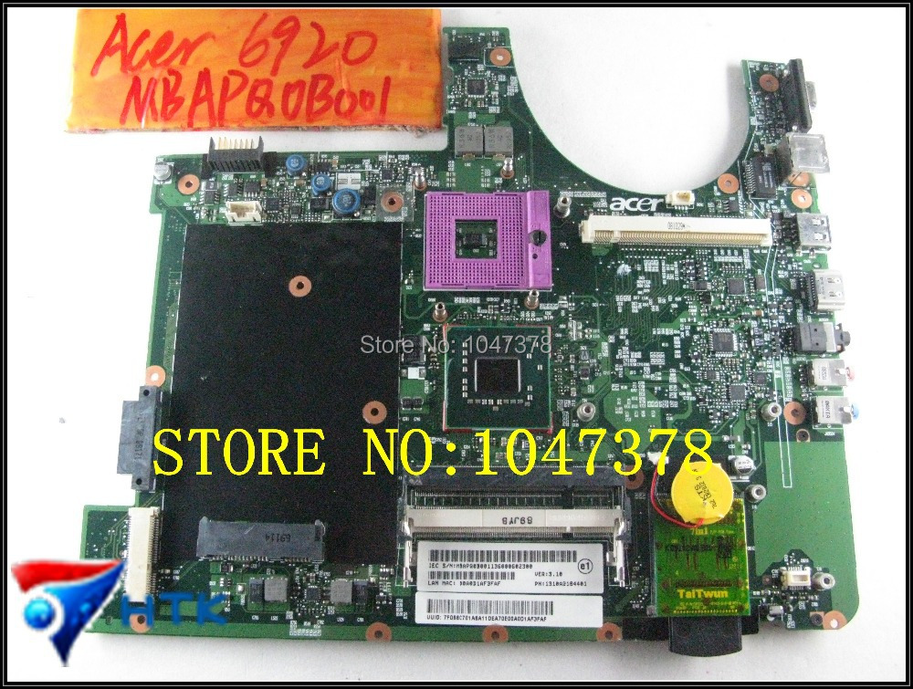 ФОТО Wholesale Laptop Motherboard FOR acer aspire 6920 mainboard mbapq001 6050a21884401-mb-a02 6050a21884401 100% Work Perfect