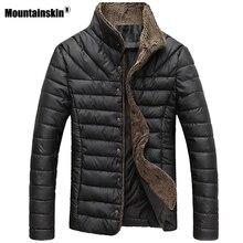 Mountainskin 2018 осень-зима Для мужчин теплая куртка Повседневные куртки Для мужчин пальто Однобортный верхняя одежда Для мужчин s брендовая одежда 5XL SA415