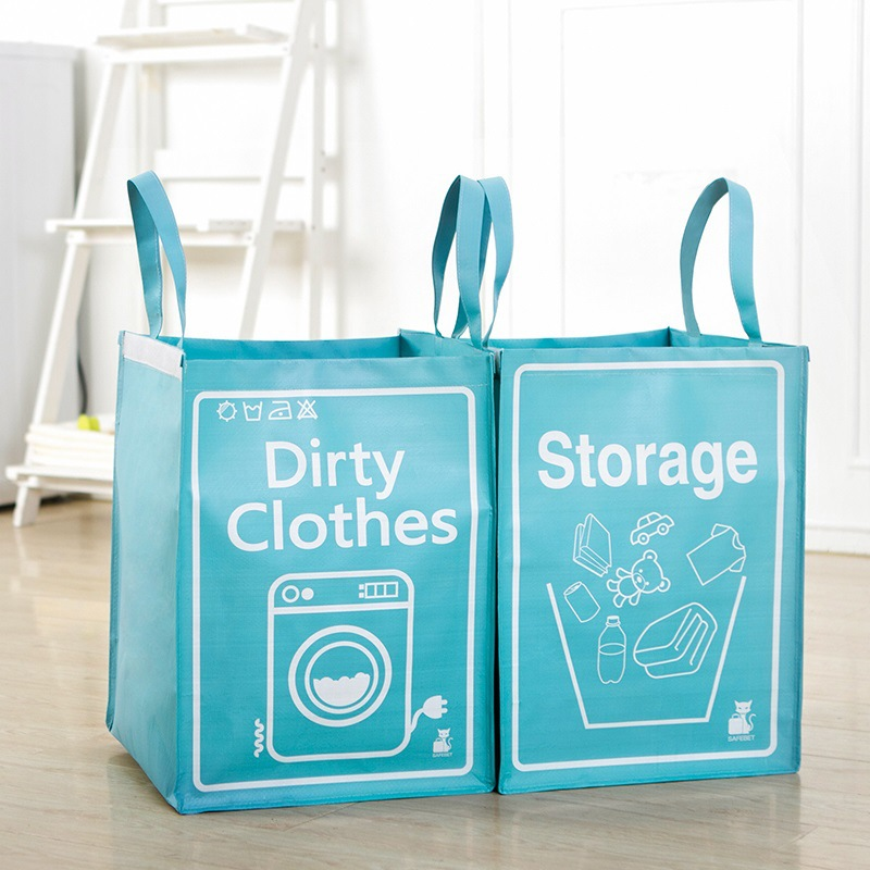 Blue/Green/Pink Portable large capacity high quality Weaving process travel upright Storage bag/case for dirty clothes/Debris