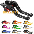 10 Colors For Honda Africa Twin XRV750 L-Y/NX650 J-X Dominator/XL600 LMF CNC Adjuster Short Levers Motorcycle Brake Clutch Lever