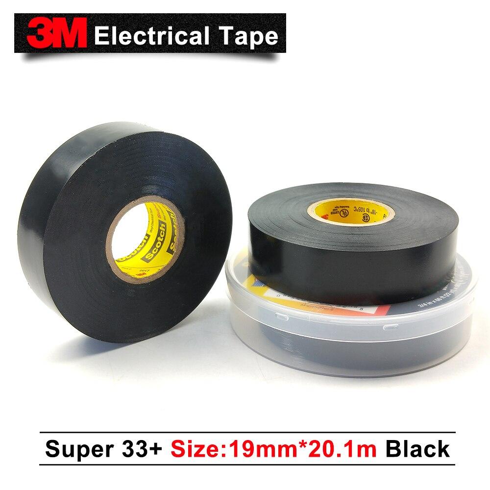 Scotch Super 33 19 mm x 6 m 0.18 mm épais Noir Isolation Électrique Bande