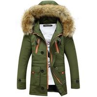 Thickening Parkas Men 2019 Winter Jacket Men's Coats Male Outerwear Fur Collar Casual Long Cotton Wadded men Hooded Coat