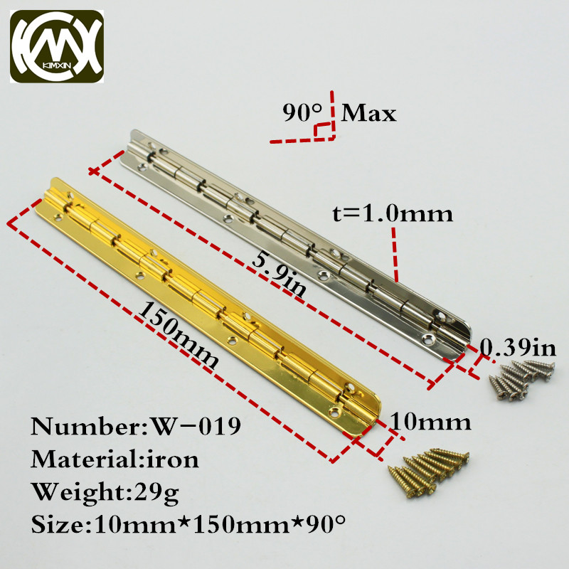 10pc 10*150mm Iron furniture hardware and cabinet hinge Quality assurance kitchen cabinet hinges Furniture parts kimxin w-019