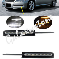 2X White LED Daytime Fog Light DRL Run Lamp For Toyota REIZ Mark X 2005 2006 2007 2008 2009 FDDSF