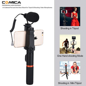 Image 4 - Comica Smartphone Video Rig Kit CVM VM10 K3 Filmmaker Handle with Mini Phone Video Microphone for iPhone Samsung LG Huawei etc.