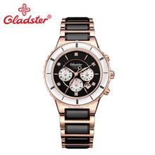 Роскошные женские часы Gladster Japan Miyota кварц с керамическим механизмом женские часы с сапфировым кристаллом