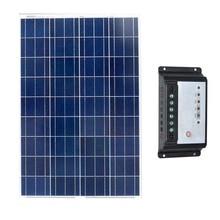 Kit Solar Panel 12v 100w Battery China Street Light Controller 12v/24v 20A Car Camping Caravan RV