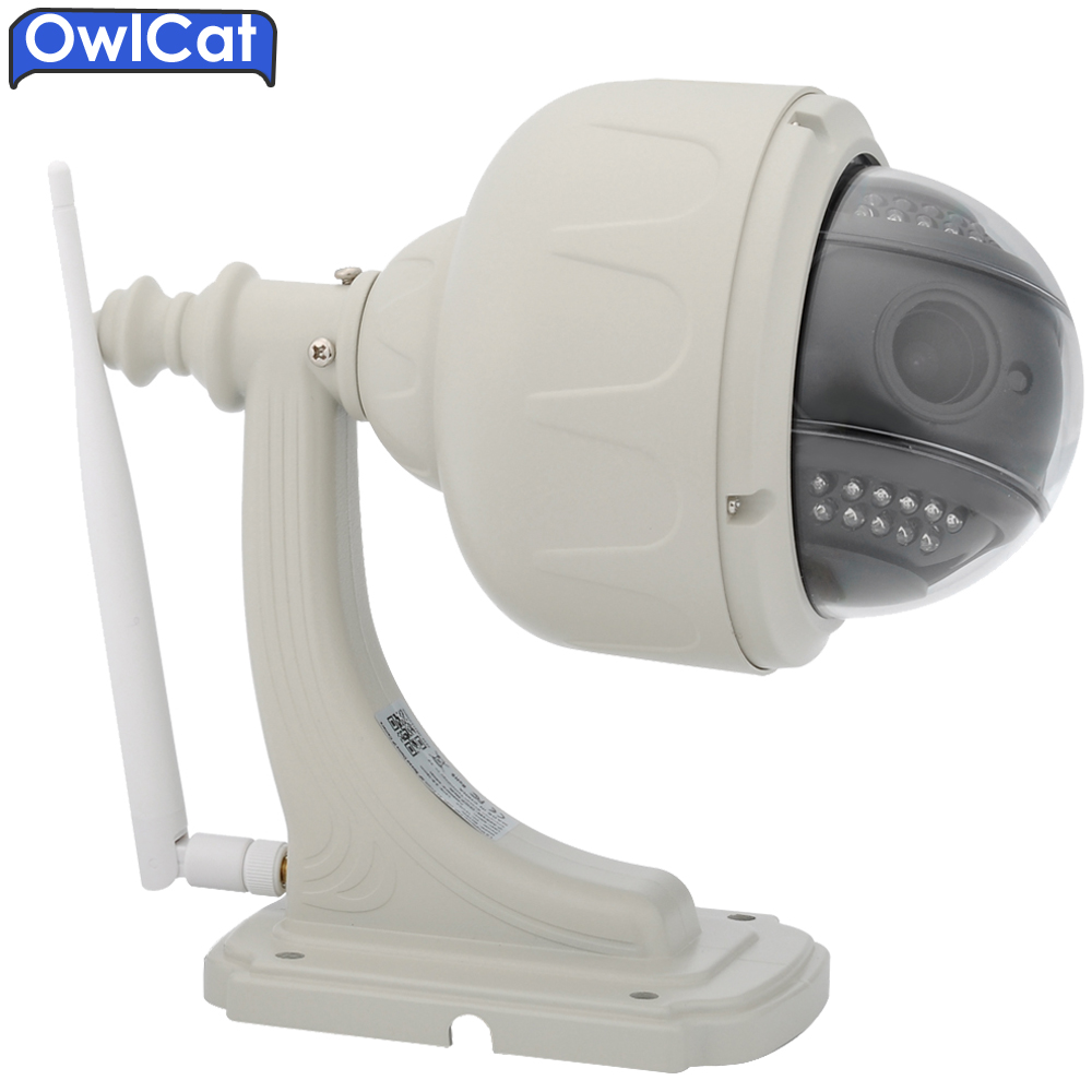 OwlCat HD 1080p 960P PTZ Speed Dome Security CCTV Wireless IP Camera Wifi Outdoor 5X Auto Focus Zoom 2.7-13.5mm SD Card ONVIF2.0 3 5 inch ahd cvi tvi cvbs hd ptz camera middle speed dome camera 1 3mp 10x auto zoom outdoor security camera no night vision