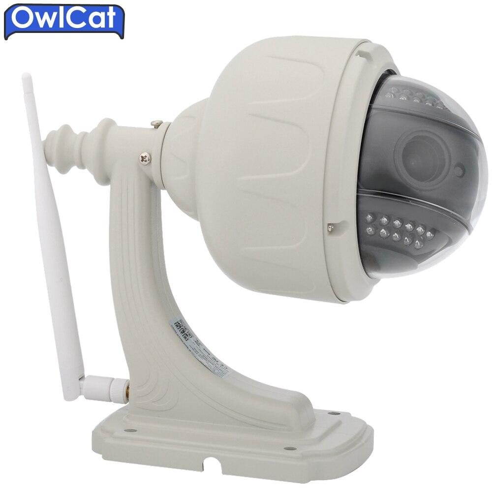 OwlCat HD 1080p 960P PTZ Speed Dome Security CCTV Wireless IP Camera Wifi Outdoor 5X Auto Focus Zoom 2.7-13.5mm SD Card ONVIF2.0 owlcat 1080p full hd 2mp surveillance network indoor dome cctv camera onvif security ip camera 3x zoomed auto focus lens 2 8 8mm