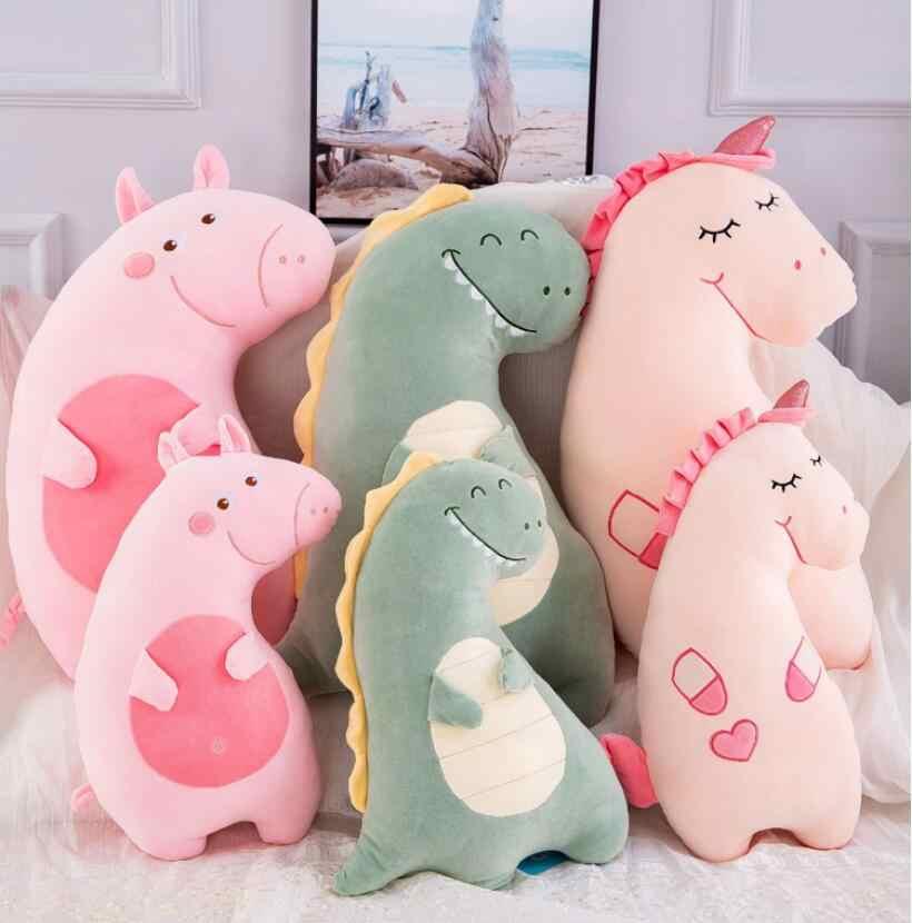Горячая новинка 60/70 креативный мультфильм милый Единорог свинья Динозавр плюшевые игрушки чучело кукла игрушка мягкая плюшевая подушка для детей подарок