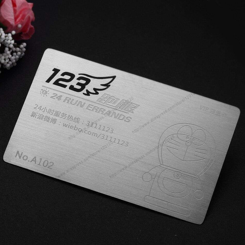 Stainless Steel Business Card Brushed Metal Card Custom Metal Membership Card Design Metal Business Card Customization