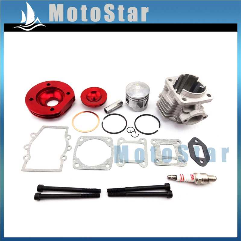 Red 44mm Big Bore Kit Cylinder Assy Shaft Piston For 2 Stroke 47cc 49cc Engine Minimoto Mini Dirt Kids ATV Quad Pocket Bike