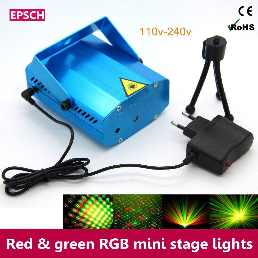 ▽Súper asequible rojo y verde mini RGB etapa KTV DJ disco luz ...