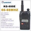 66 - 88 MHz WOUXUN KG-699E dupla tela Dual Standby walkie talkie dois way Radio FM portátil