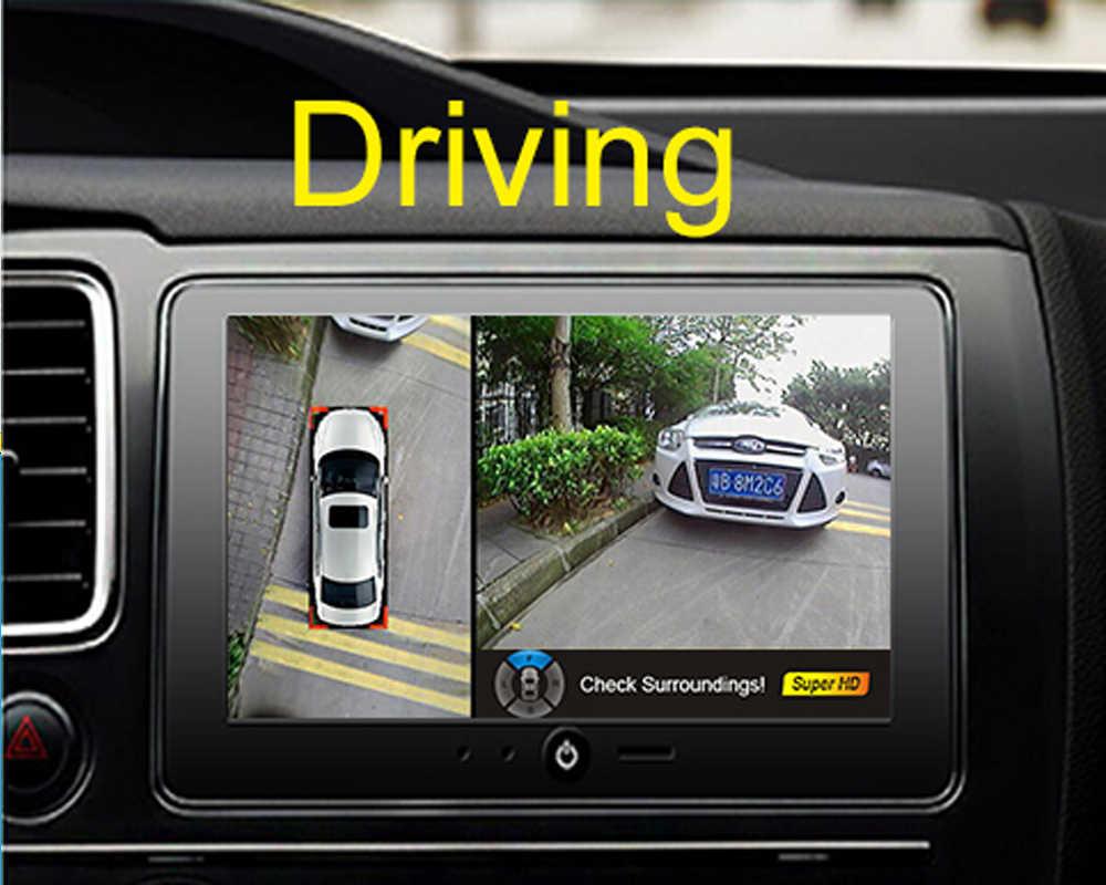 1080 P 360 птица вид объемный Автомобильный видеорегистратор Система записи монитора, все круглые камеры заднего вида для Toyota Camry Corolla Crown Corolla