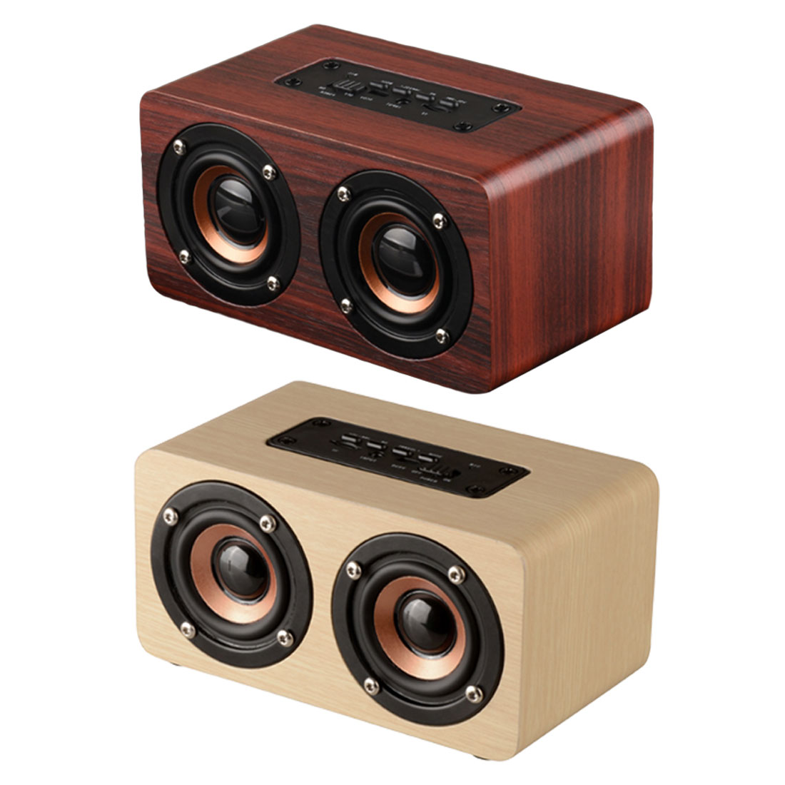 Portable WiFi Shock Bass Sound bar Wooden Wireless Bluetooth Speaker Car computer for iPhone Sumsung Xiaomi